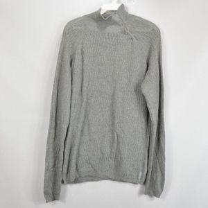 Armani Exchange Mens Medium Button Sweater Gray